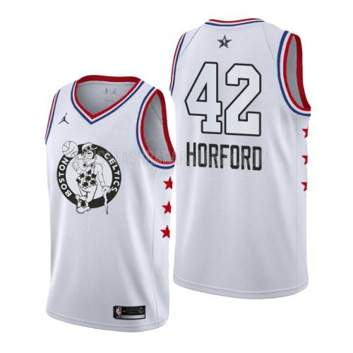 camiseta boston celtics de la al horford 42 hombres blanco nba all-star 2019