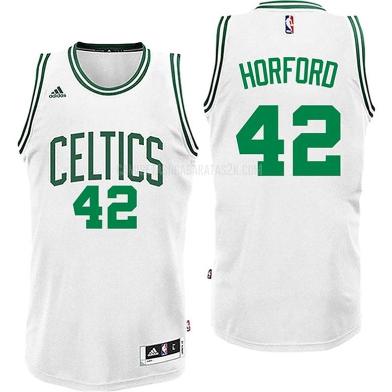 camiseta boston celtics de la al horford 42 hombres blanco primera
