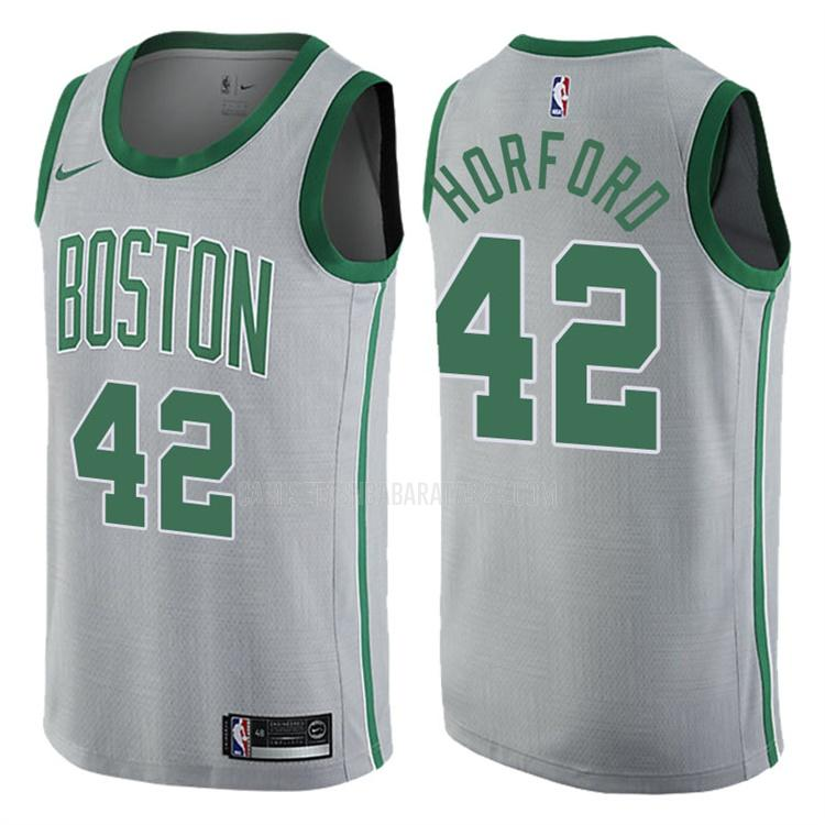 camiseta boston celtics de la al horford 42 hombres gris edición city