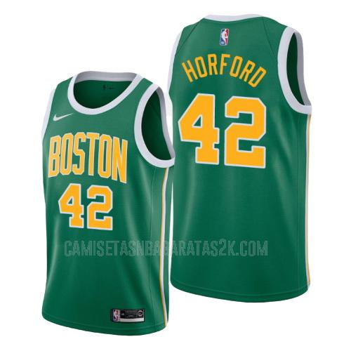camiseta boston celtics de la al horford 42 hombres verde edición earned