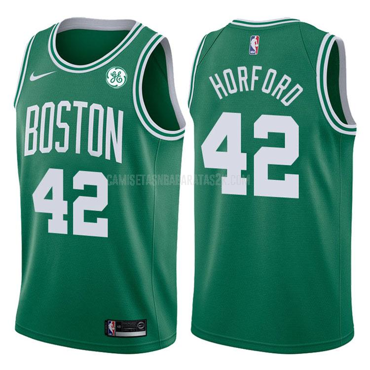 camiseta boston celtics de la al horford 42 hombres verde icon 2017-18