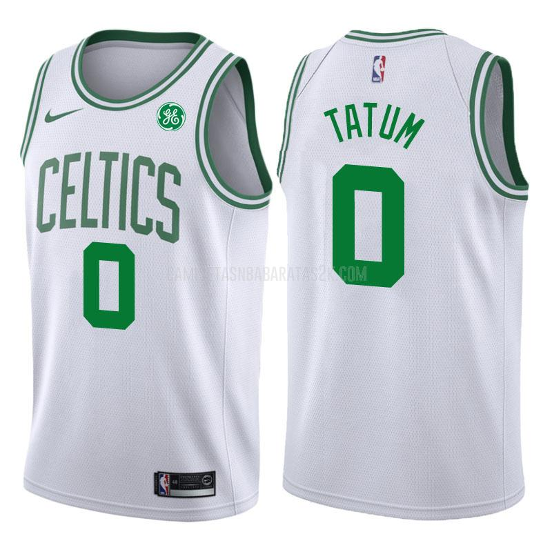 camiseta boston celtics de la jayson tatum 0 hombres blanco association 2017-18