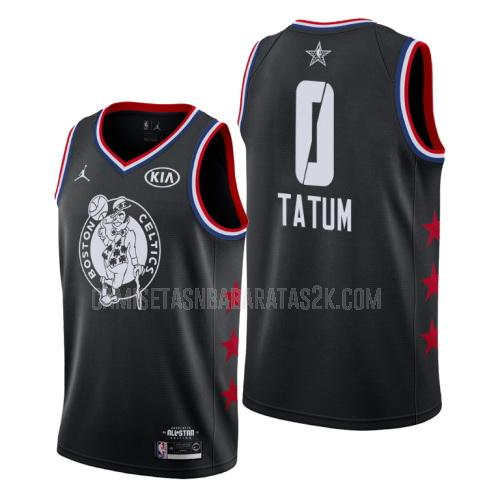 camiseta boston celtics de la jayson tatum 0 hombres negro nba all-star 2019
