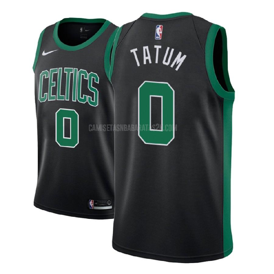 camiseta boston celtics de la jayson tatum 0 hombres negro statement 2017-18