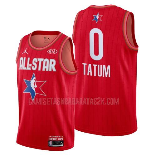 camiseta boston celtics de la jayson tatum 0 hombres rojo nba all-star 2020