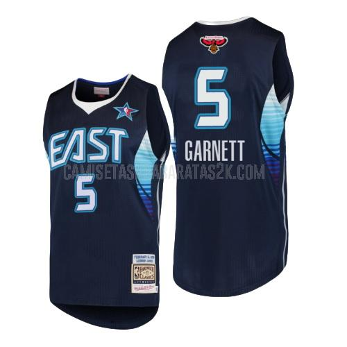 camiseta boston celtics de la kevin garnett 5 hombres azul marino nba all-star 2009
