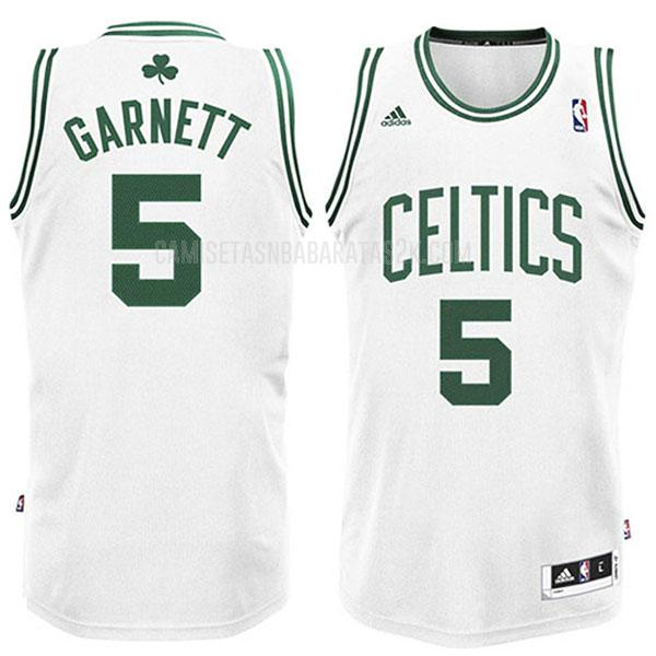 camiseta boston celtics de la kevin garnett 5 hombres blanco swingman