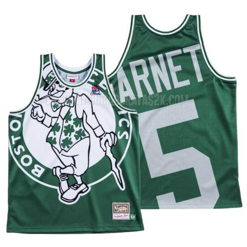 camiseta boston celtics de la kevin garnett 5 hombres verde big face