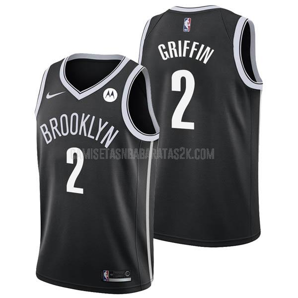 camiseta brooklyn nets de la blake griffin 2 hombres negro icon 2021