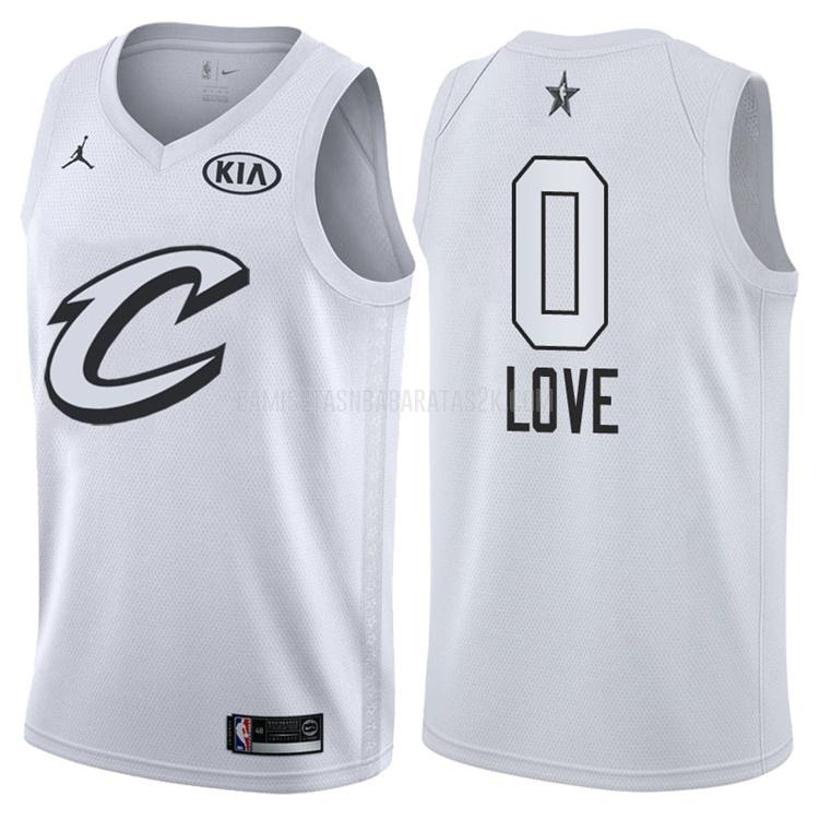 camiseta cleveland cavaliers de la kevin love 0 hombres blanco nba all-star 2018