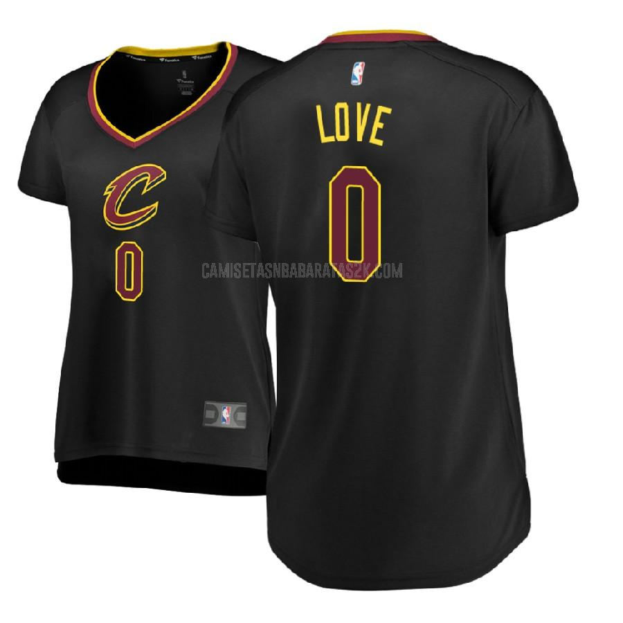camiseta cleveland cavaliers de la kevin love 0 mujer negro statement 2017-18