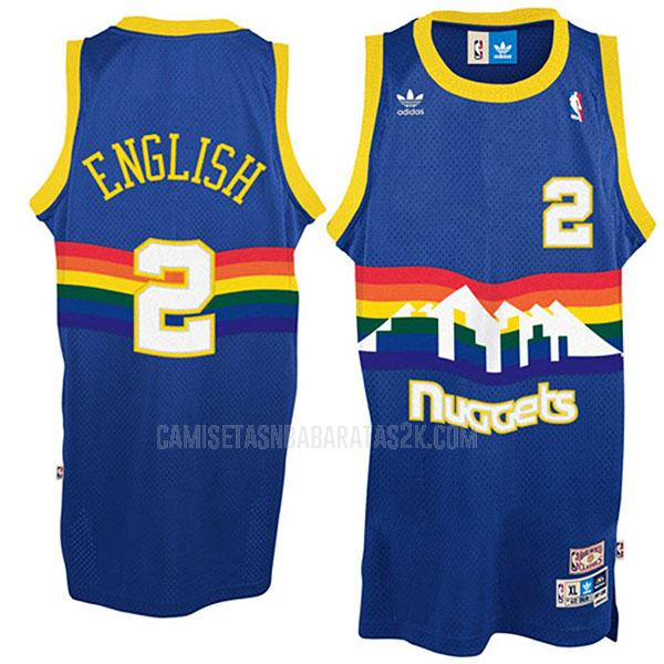 camiseta denver nuggets de la alex english 2 hombres azul throwback