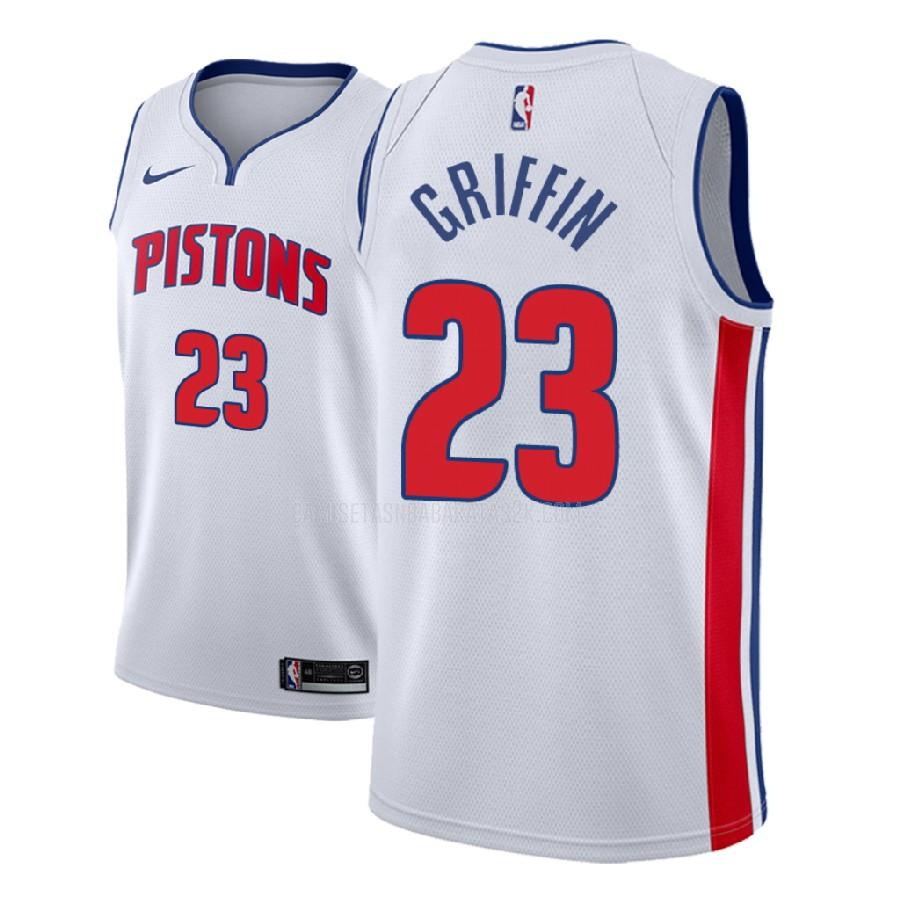 camiseta detroit pistons de la blake griffin 23 hombres blanco association 2017-18