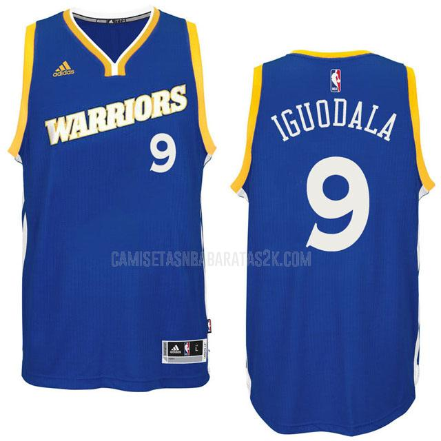 camiseta golden state warriors de la andre iguodala 9 hombres azul alterno 2016-17
