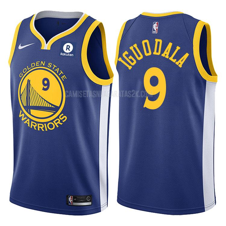 camiseta golden state warriors de la andre iguodala 9 hombres azul icon 2017-18