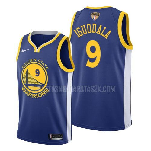 camiseta golden state warriors de la andre iguodala 9 hombres azul icon 2019