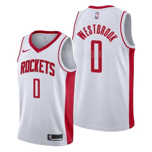 camiseta houston rockets de la russell westbrook 0 hombres blanco association