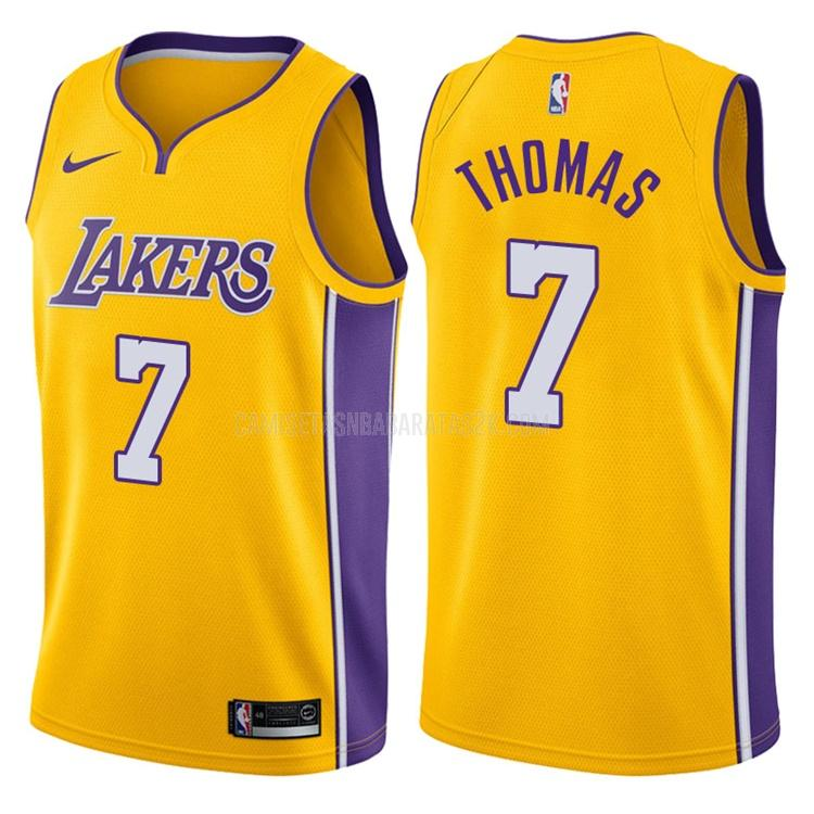 camiseta los angeles lakers de la isaiah thomas 3 hombres amarillo icon
