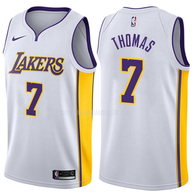 camiseta los angeles lakers de la isaiah thomas 3 hombres blanco association