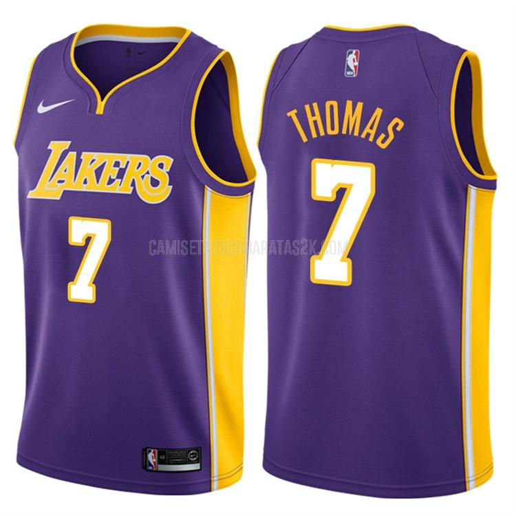 camiseta los angeles lakers de la isaiah thomas 3 hombres morado statement