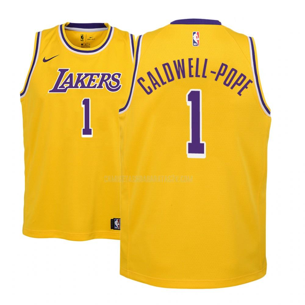 camiseta los angeles lakers de la kentavious caldwell-pope 1 niños amarillo icon