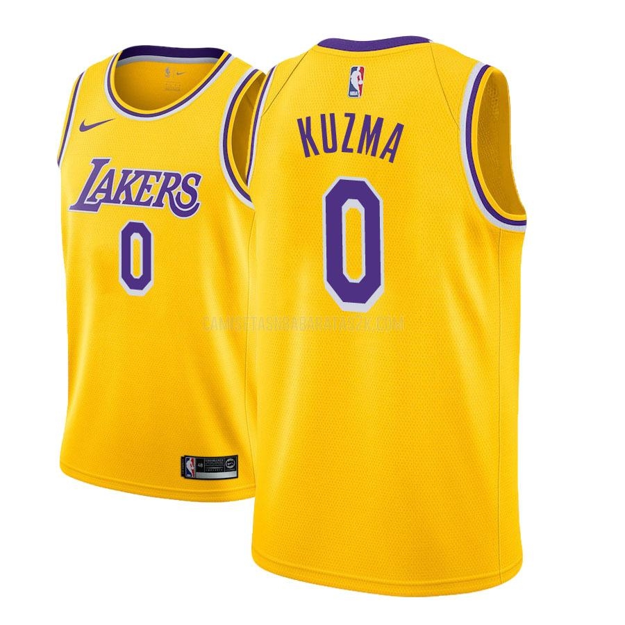camiseta los angeles lakers de la kyle kuzma 0 hombres amarillo icon
