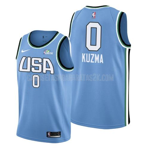 camiseta los angeles lakers de la kyle kuzma 0 hombres azul rising star 2019