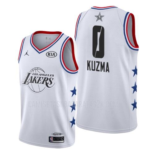 camiseta los angeles lakers de la kyle kuzma 0 hombres blanco nba all-star 2019