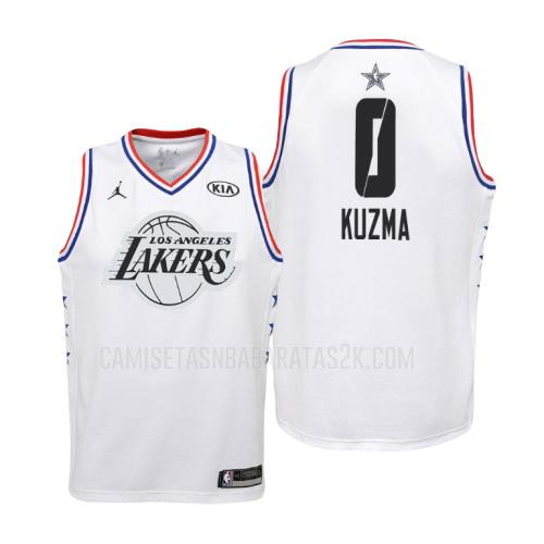 camiseta los angeles lakers de la kyle kuzma 0 niños blanco nba all-star 2019