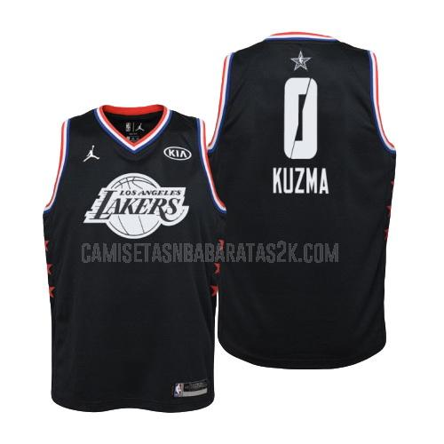 camiseta los angeles lakers de la kyle kuzma 0 niños negro nba all-star 2019