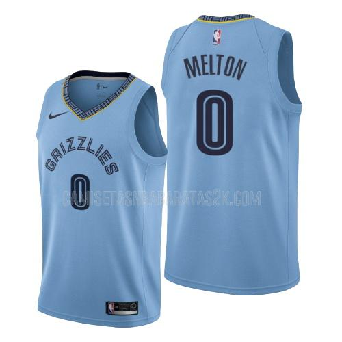 camiseta memphis grizzlies de la de'anthony melton 0 hombres azul statement