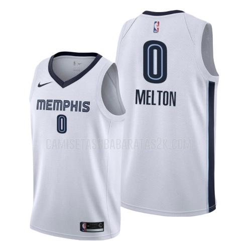 camiseta memphis grizzlies de la de'anthony melton 0 hombres blanco association