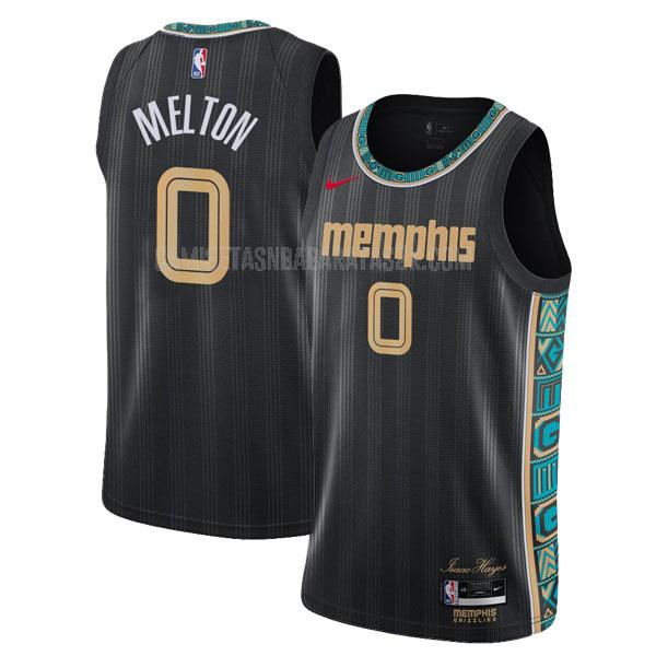 camiseta memphis grizzlies de la de'anthony melton 0 hombres negro city edition 2020-21