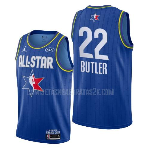 camiseta milwaukee bucks de la khris middleton 22 hombres azul nba all-star 2020