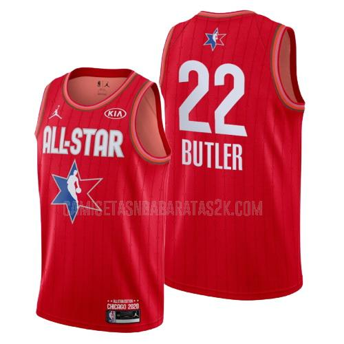 camiseta milwaukee bucks de la khris middleton 22 hombres rojo nba all-star 2020