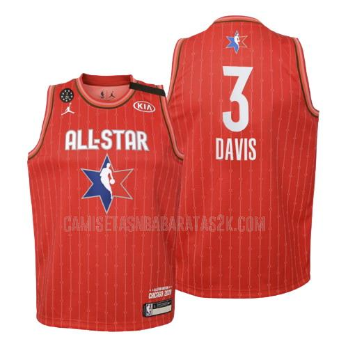 camiseta oklahoma city thunder de la chris paul 3 niños rojo nba all-star 2020