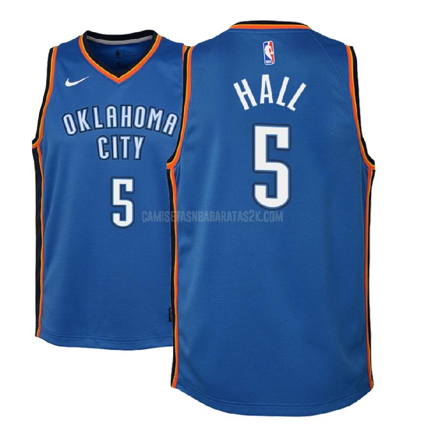 camiseta oklahoma city thunder de la devon hall 5 niños azul icon 2018-19