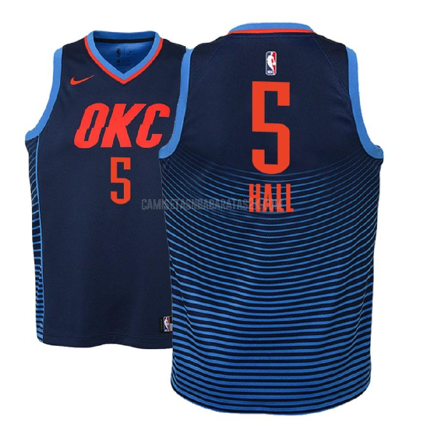 camiseta oklahoma city thunder de la devon hall 5 niños azul marino statement 2018-19