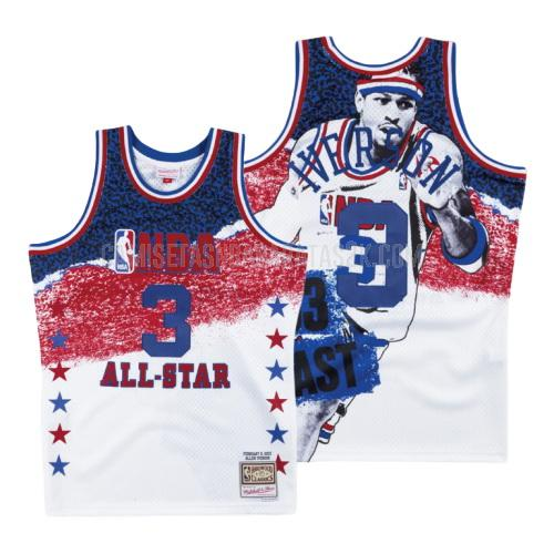 camiseta philadelphia 76ers de la allen iverson 3 hombres blanco nba all-star fashion