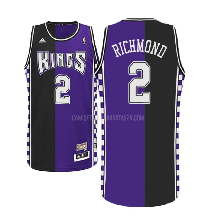camiseta sacramento kings de la mitch richmond 2 hombres morado hardwood classic