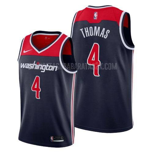 camiseta washington wizards de la isaiah thomas 4 hombres azul marino statement