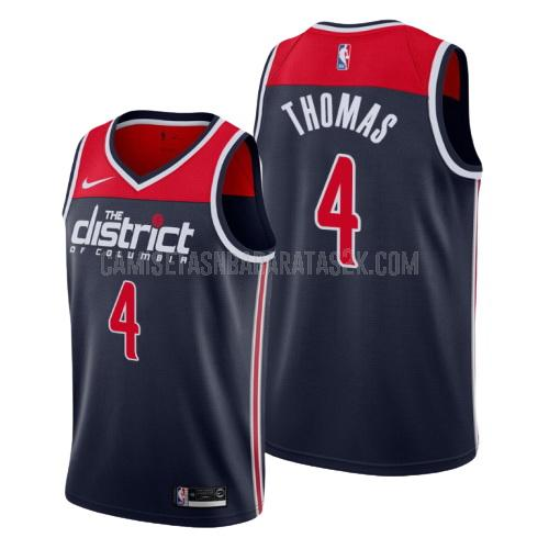 camiseta washington wizards de la isaiah thomas 4 hombres azul marino statement 2019-20