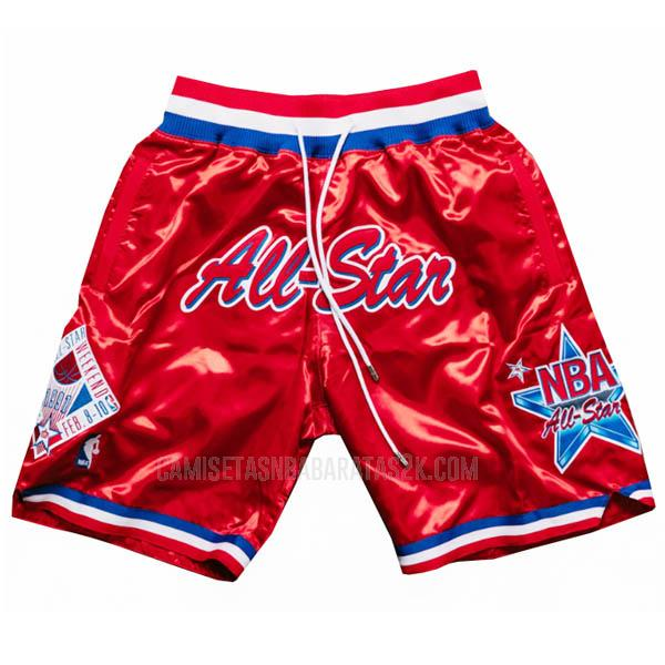 pantalones cortos nba all star de la rojo just don bolsillo 1991