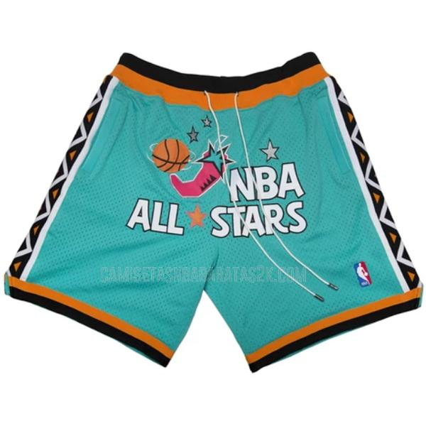 pantalones cortos nba all star de la verde just don bolsillo 1996