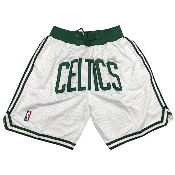 pantalones cortos nba boston celtics de la blanco just don bolsillo